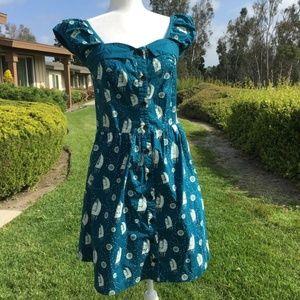 Teal Nautical Dress